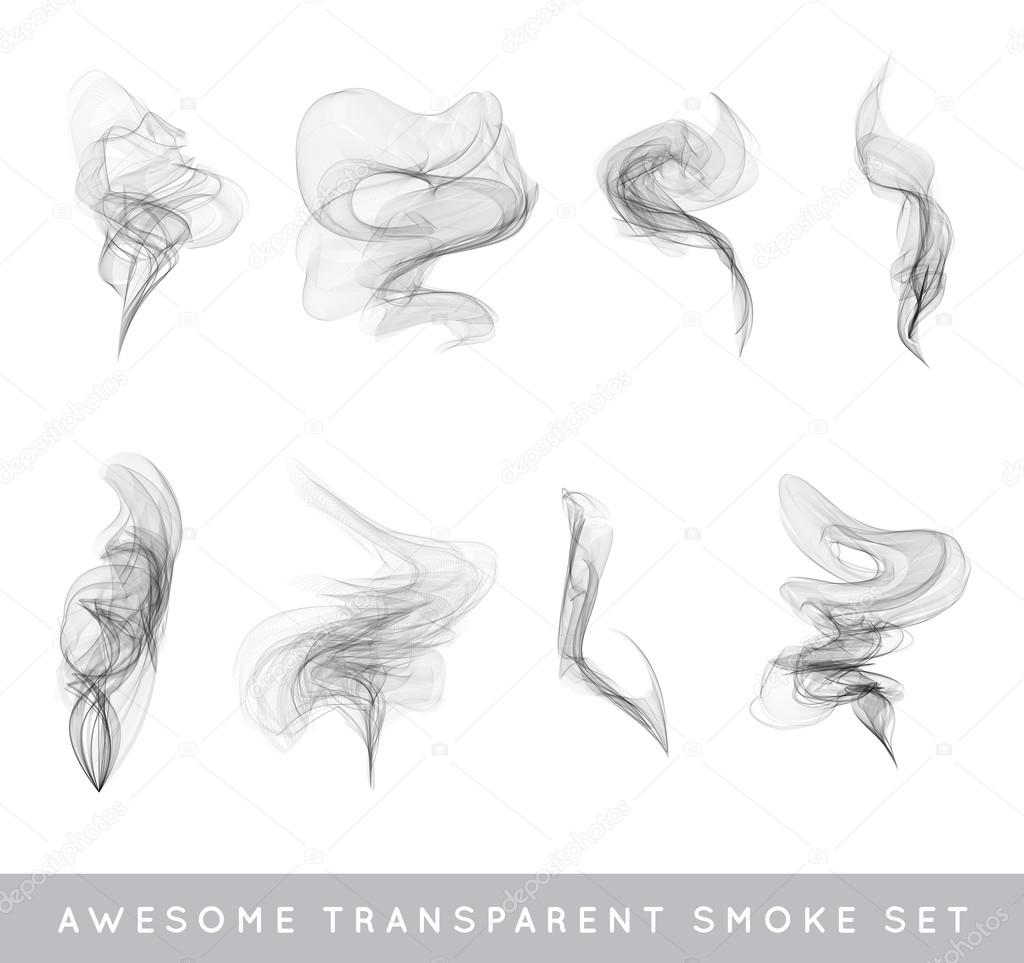 how to draw smoke with pencil step by step
