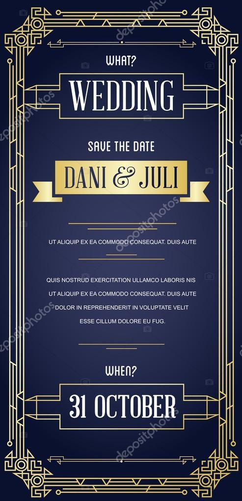 Great Style Invitation in Art Deco