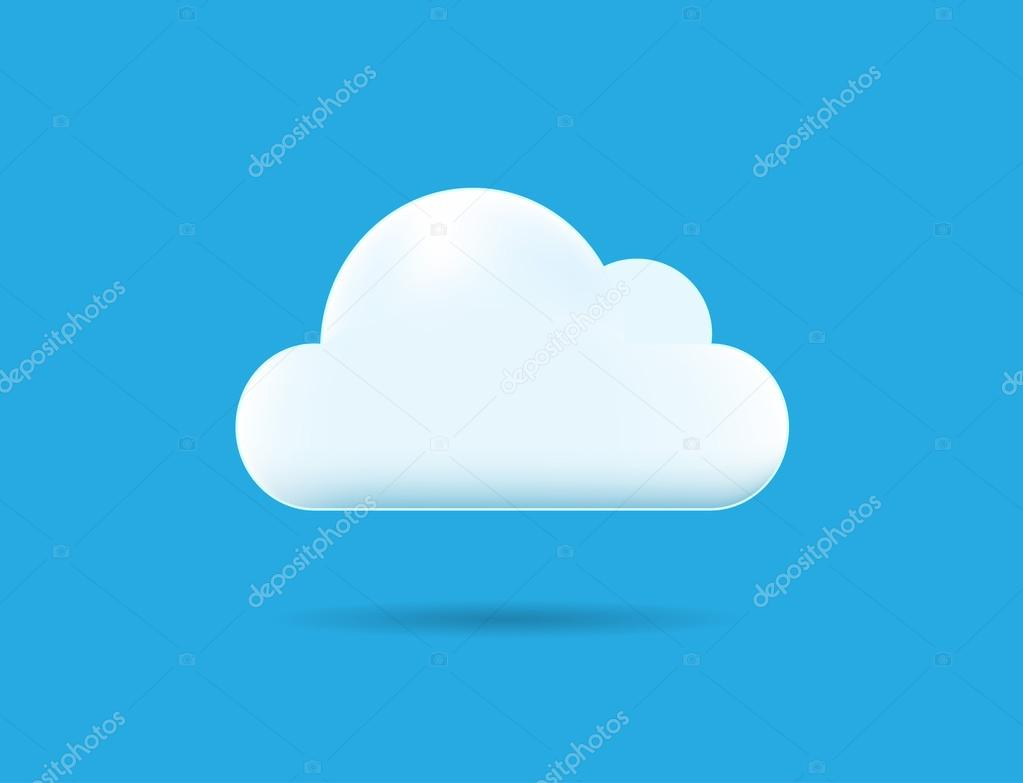 Cloud Icon on Blue