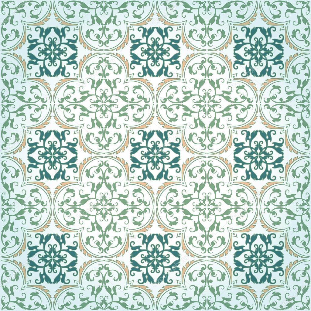 Seamless Damask Background Pattern