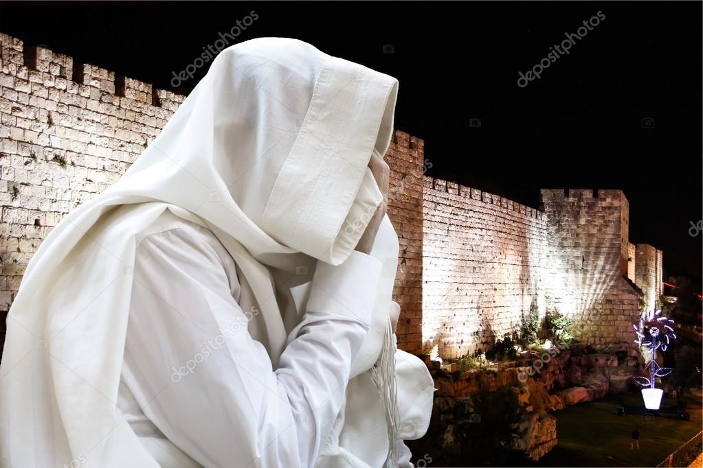 Jews read the Shema israel - Jewish prayer — Stock Photo © natushm