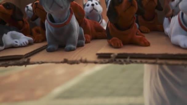 Roztomilý bobbleheads psů