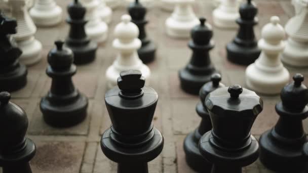 Detail velké šachové figurky