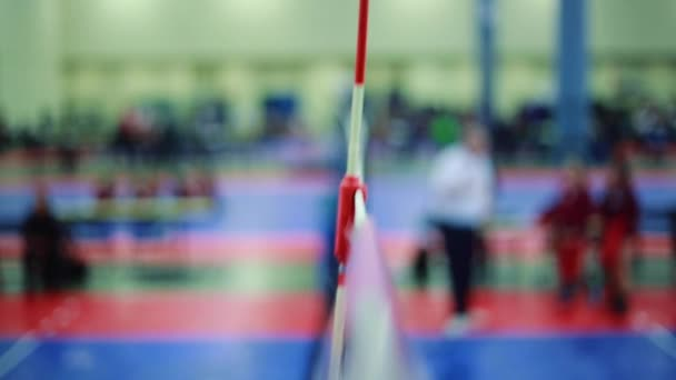 Volejbal hra Indoor soudu z hlediska rozhodčí