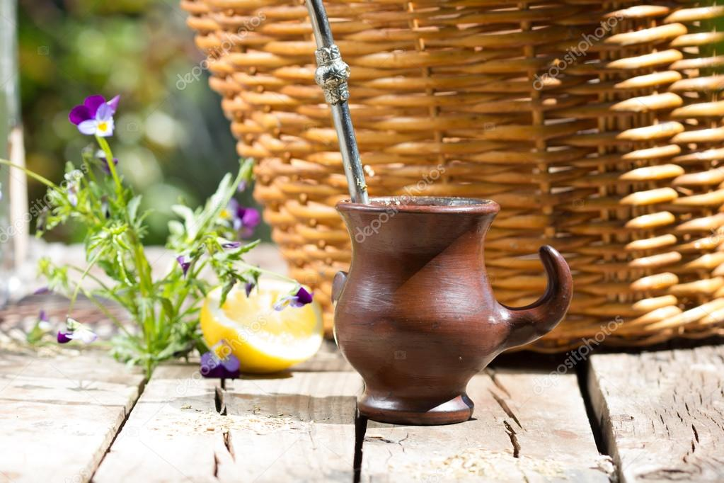 Herb mate - traditional tea of Latin America
