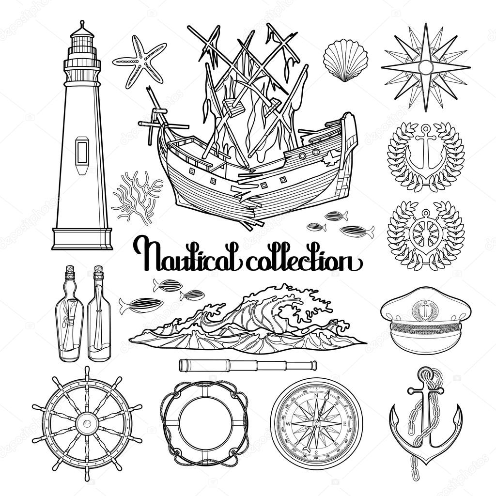 Graphic nautical collection