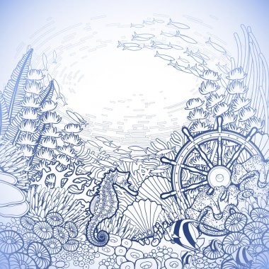 Graphic coral reef design