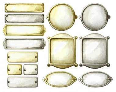 Watercolor metal plates