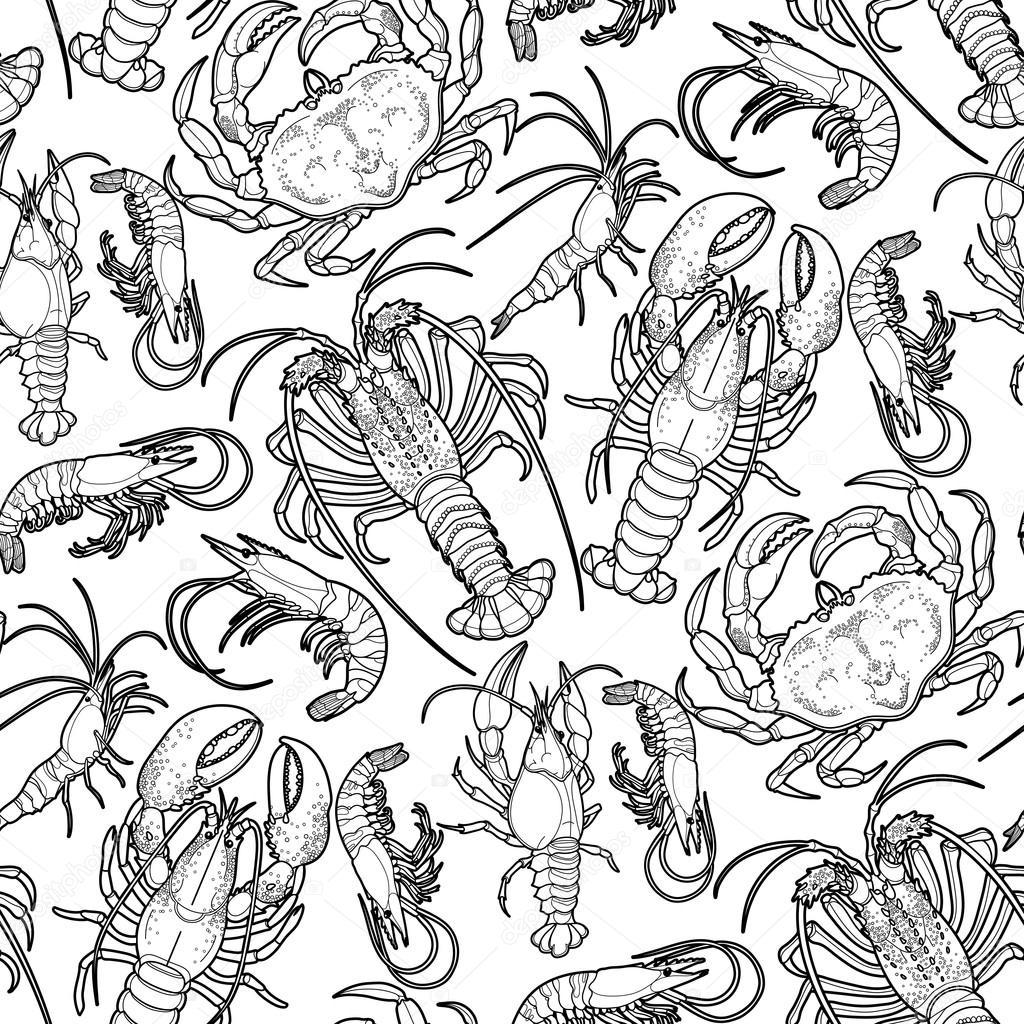 Graphic crustaceans collection