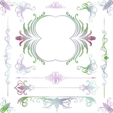 Graphic ornate design elements.