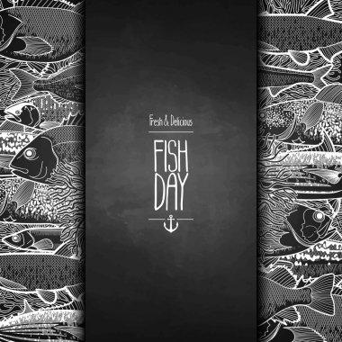 Graphic ocean fish design