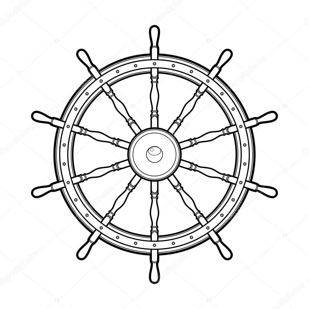 Grafik Deniz Direksiyon Simidi Stok Vektör Homunkulus28 106296278