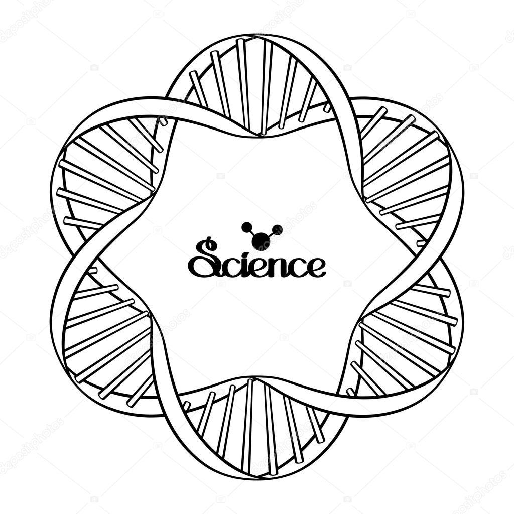 Marco de círculo de ADN gráfico — Vector de stock © homunkulus28 ...