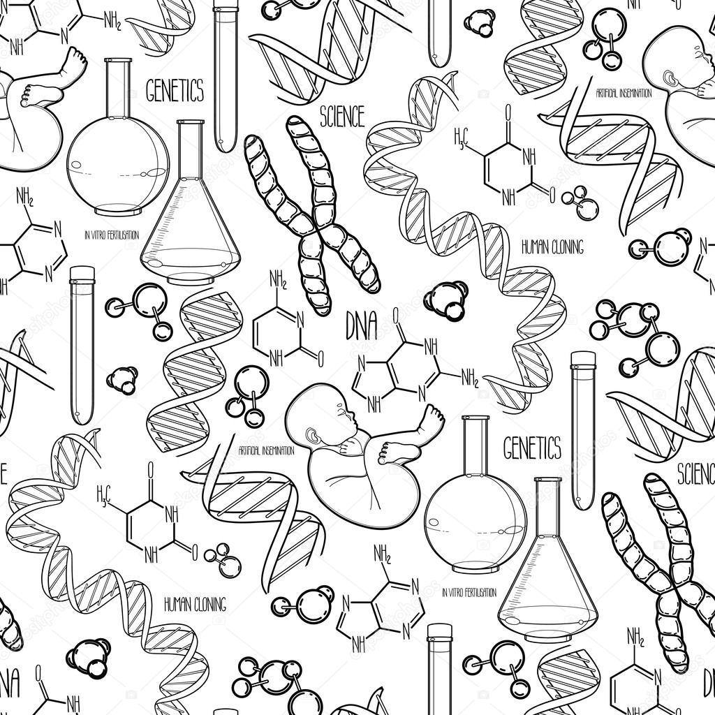 Patrón de investigación genética — Vector de stock © homunkulus28 ...