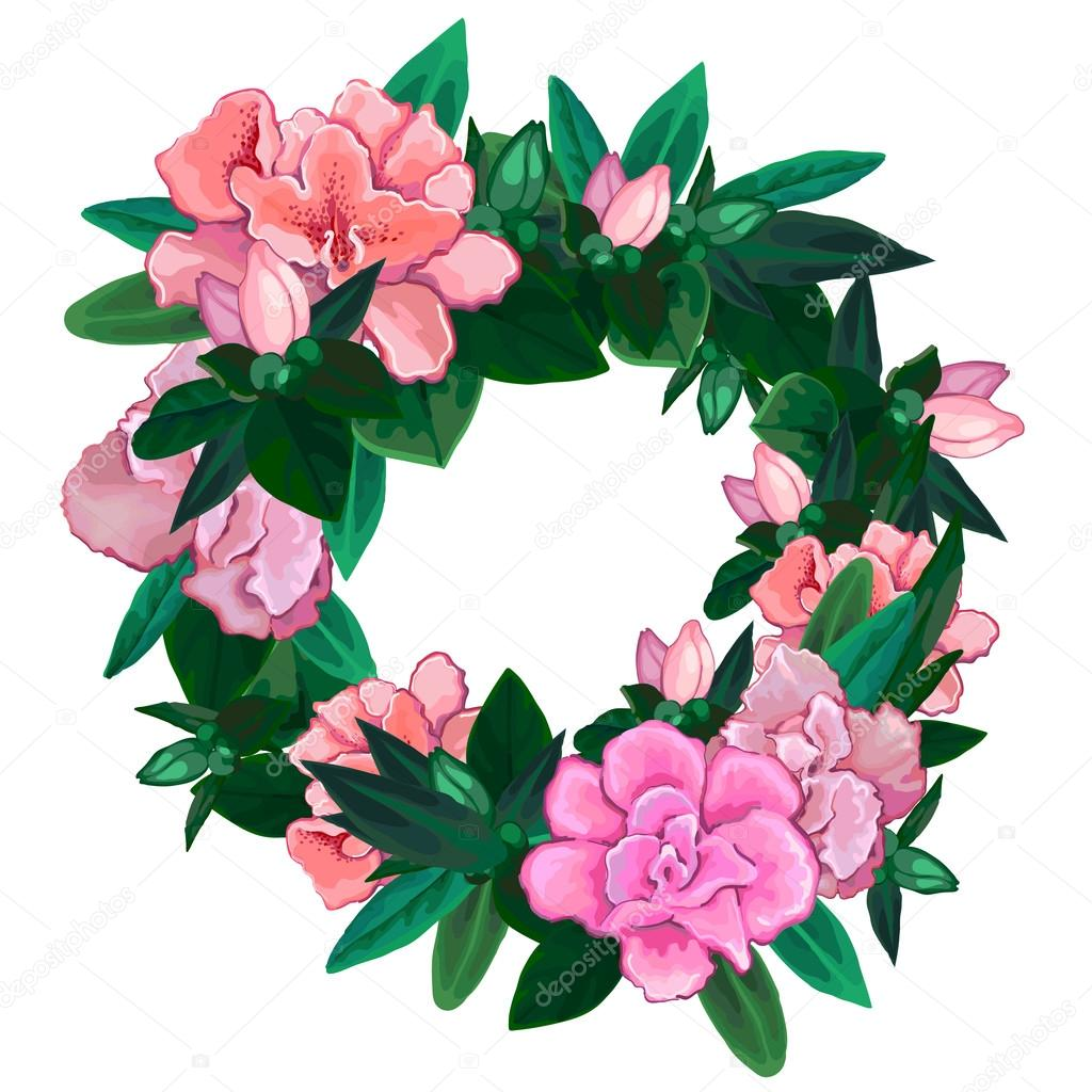 Gentle azalea wreath