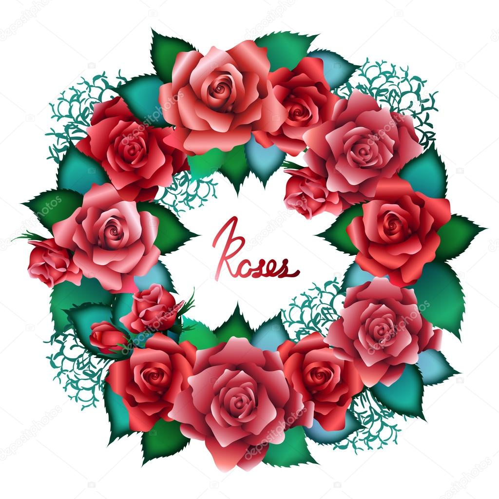 Corona Di Rose Rosse Vettoriali Stock Homunkulus28 88088668