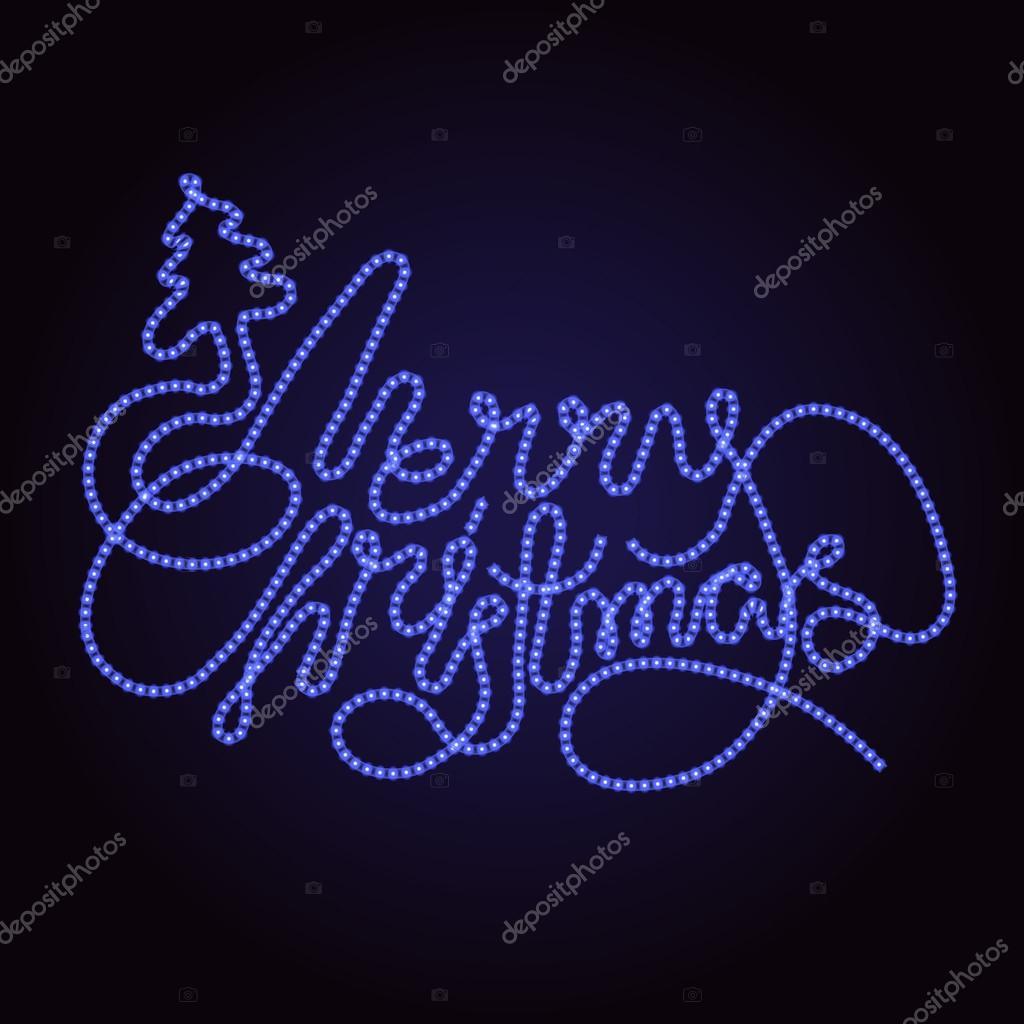 Led Frohe Weihnachten.Vektor Schriftzug Led Strip Licht Stockvektor Homunkulus28 88088768