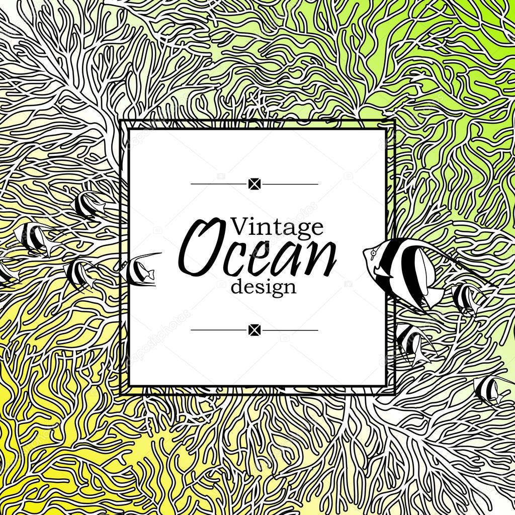 Ocean line art design