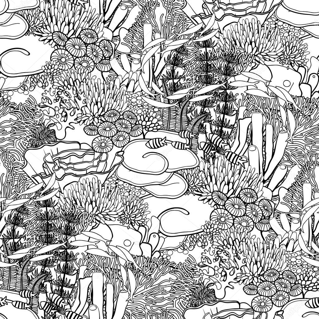 patrón de arrecife de coral — Vector de stock © homunkulus28 #94583758