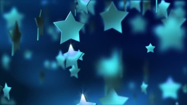 Glowing stars falling