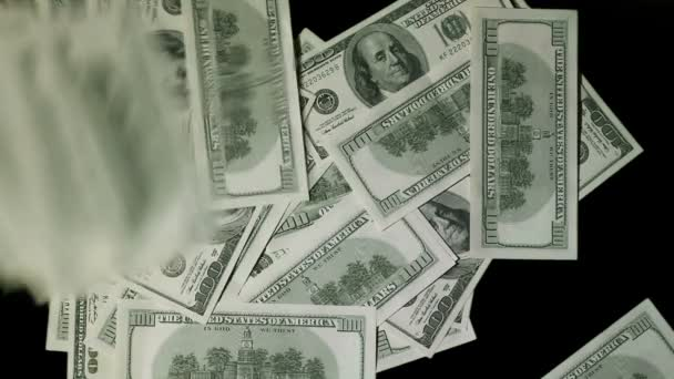 Dolarové bankovky celou obrazovku