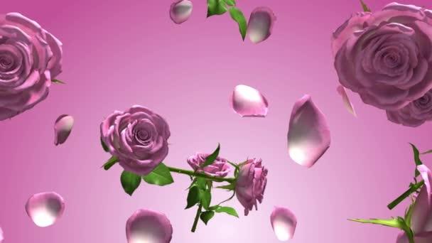 Animált rózsák áramló