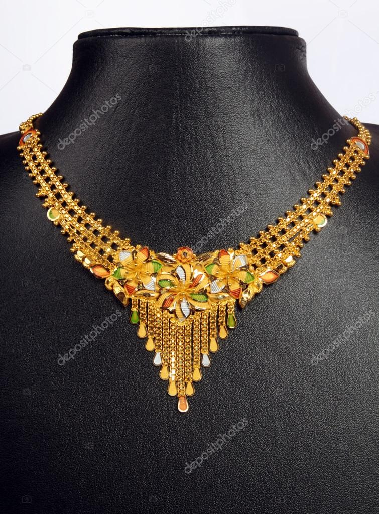 v set grams product gold necklace carat indian shaped forever