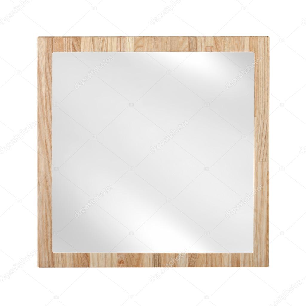 Spiegel im Holzrahmen Eiche - isoliert auf weiss — Stockfoto ...
