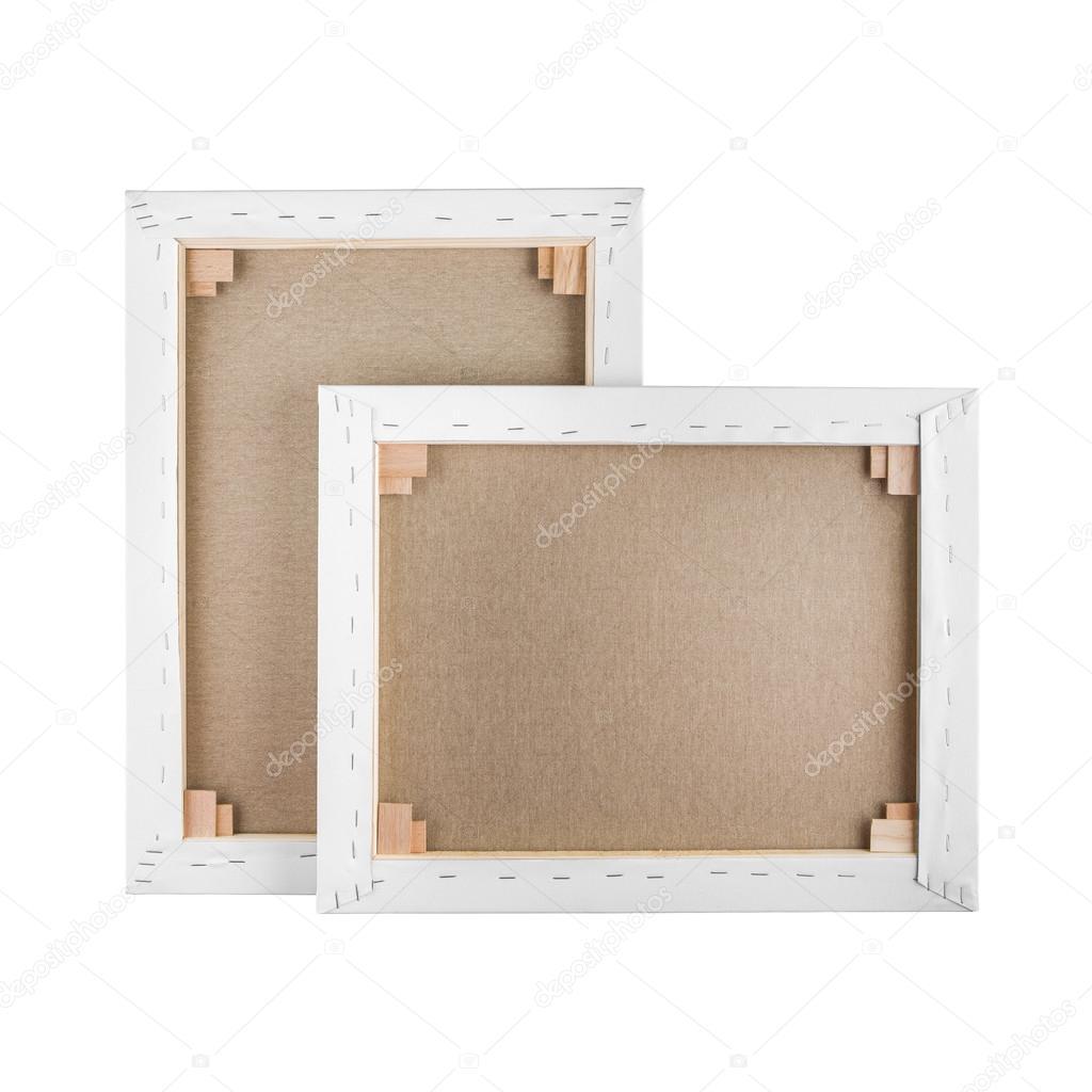 Galería envuelta en blanco lienzo en marco de madera - camilla bar ...