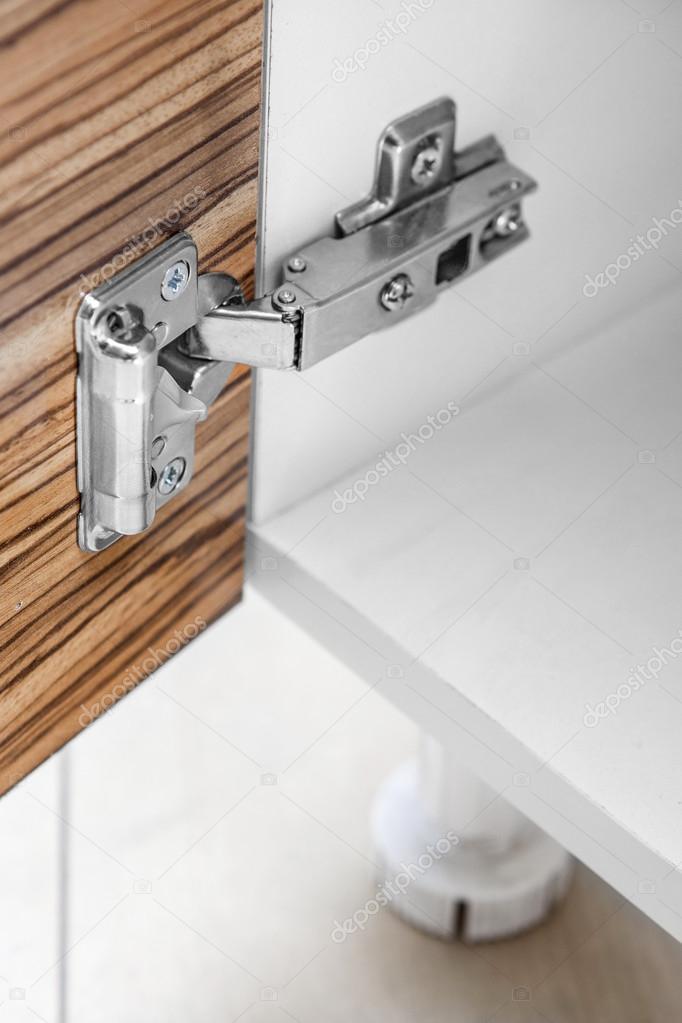 Closeup Möbel Schrank moderne Clip-Scharnier mit Tilgung - Küche ...