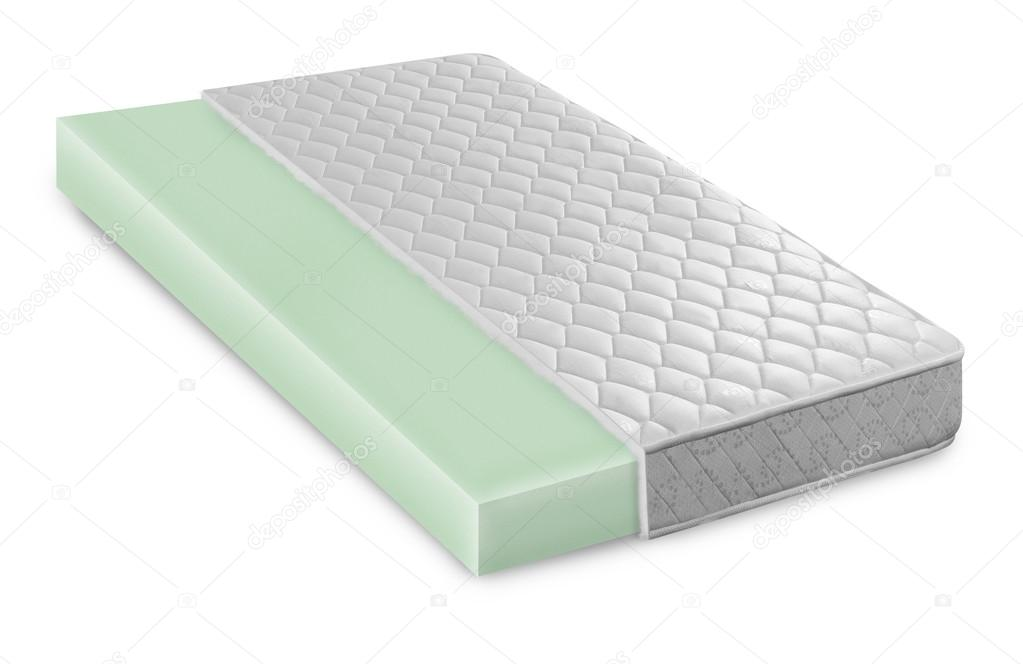 Matras Memory Foam : Memory foam latex matras cross sectie foto illustratie hallo