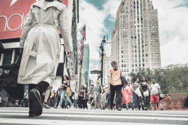 Rush hour in New York