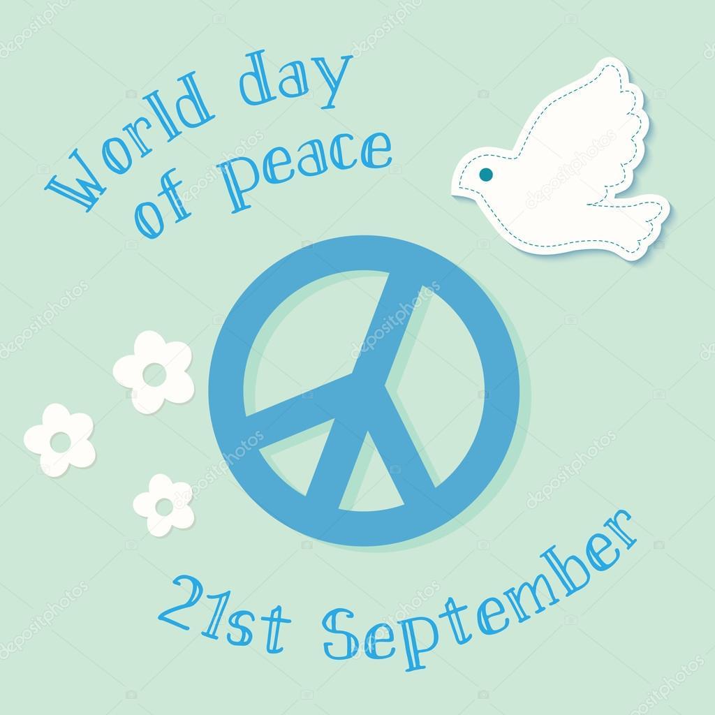 国際平和デーのシンボル ポスタ...