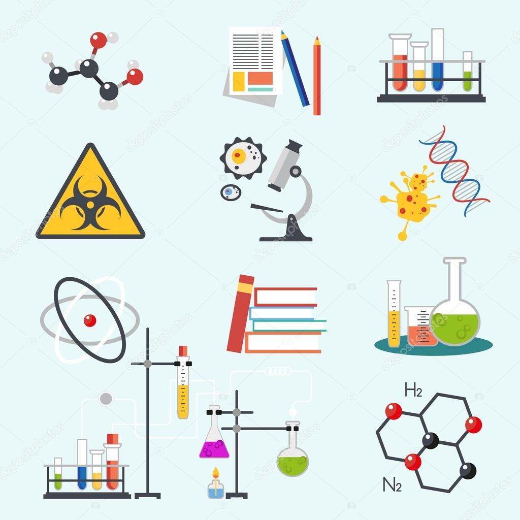 Laboratorio qu mica ciencia y tecnolog a plana estilo - Estilo y diseno ...