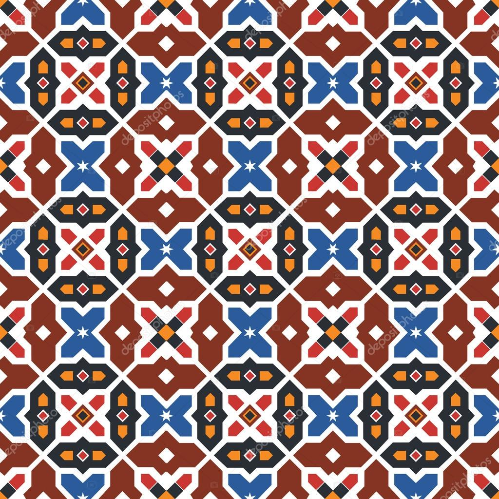 Abstract arabic islamic seamless geometric pattern background. Vector illustration