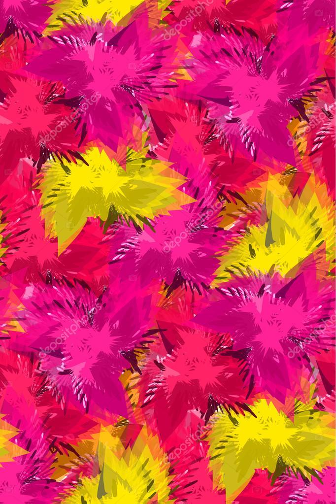 patrones sin fisuras con flores de colores abstractas — Vector de ...