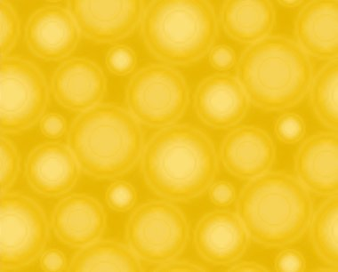 Yellow seamless pattern with round shapes.