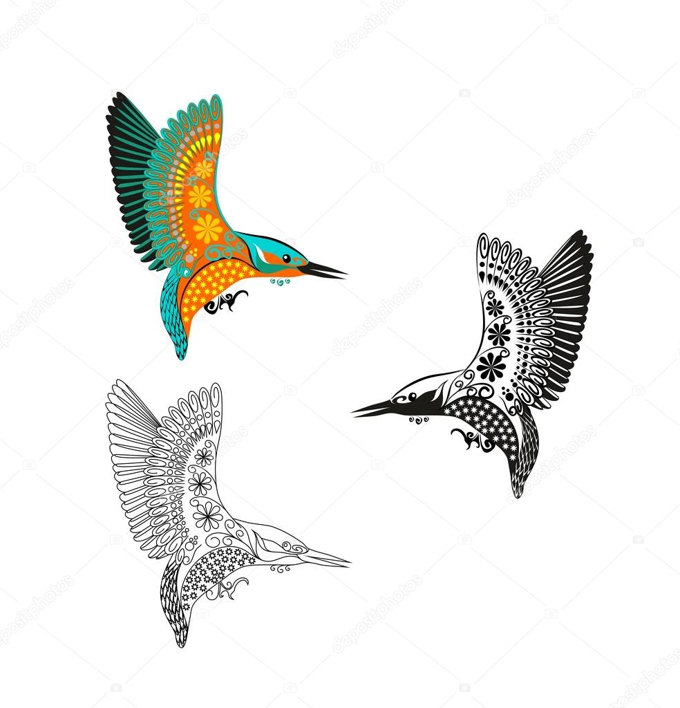 Alcedo atthis martin p cheur oiseau en vol bleu image - Dessin oiseau en vol ...