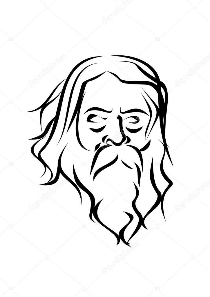 Famosos Face de velhos homens sábios e experientes do Norte. Homem dos  RK49