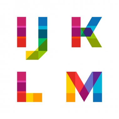 Beautiful vivid capital latin letters