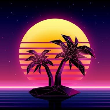 Digital palm trees