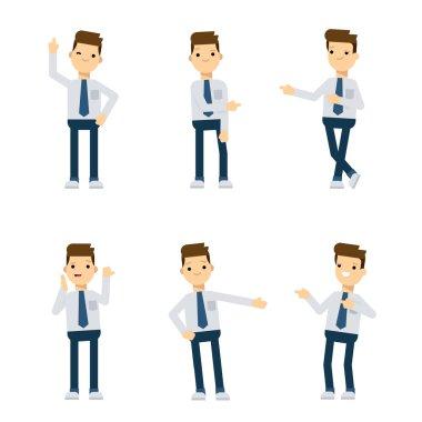 office men pointing