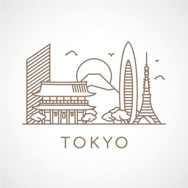 Tokyo with famous buildings and places