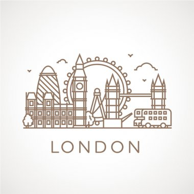 London with famous buildings and places