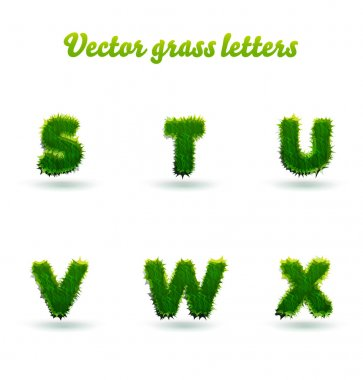 green grass letters