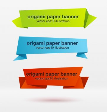 origami paper banners