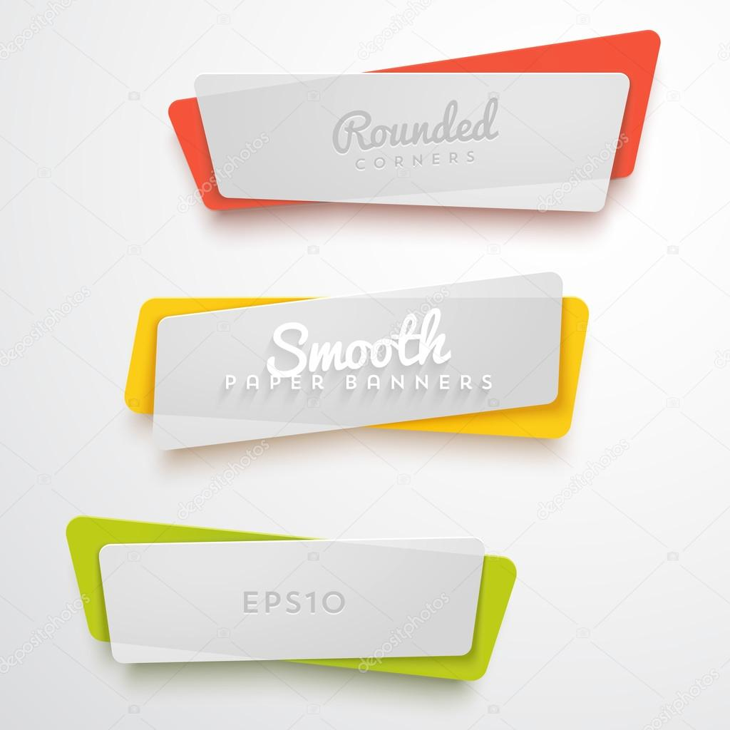 set of translucent plastic banners