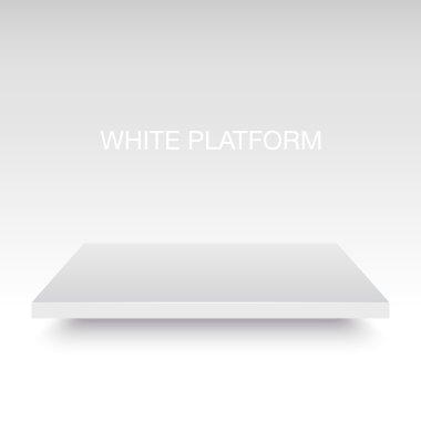 White platform stand