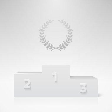White champion pedestal