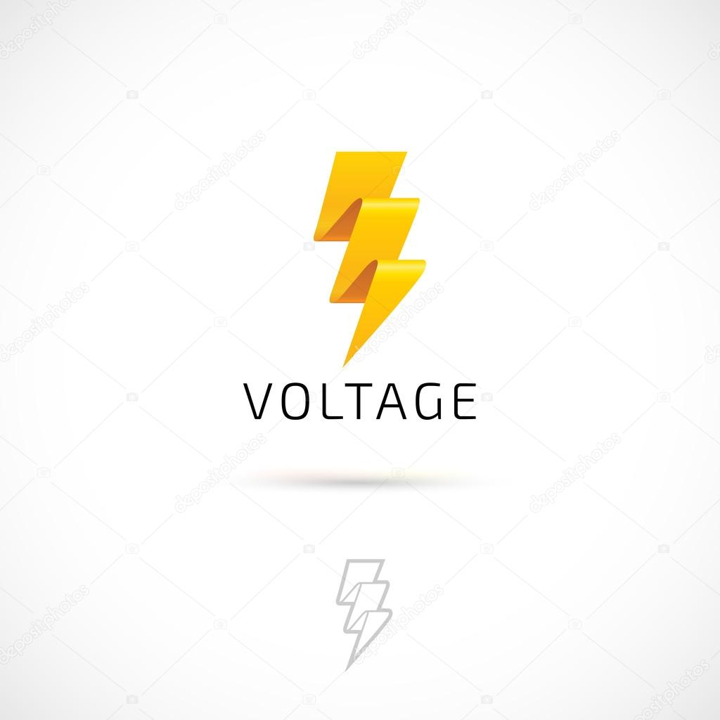 Gelbe Spannung Symbol — Stockvektor © garybaldi #90175466